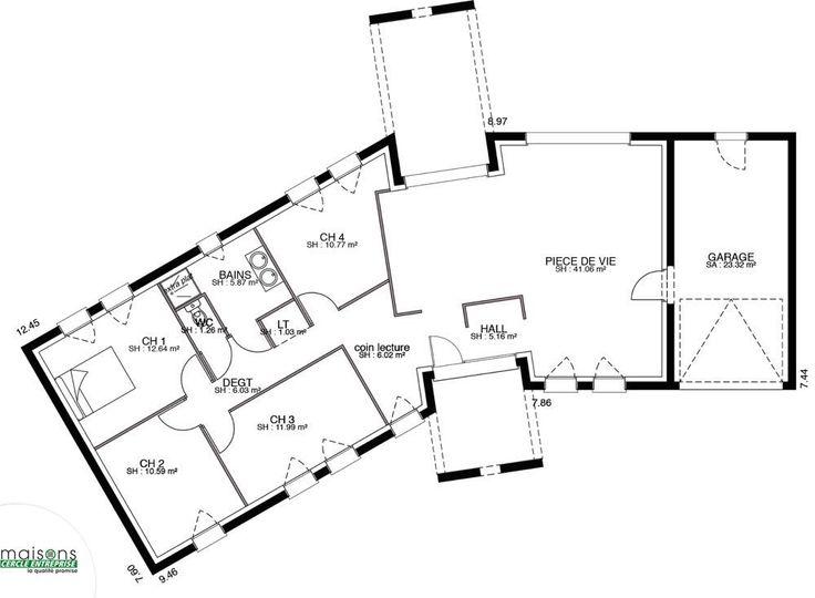 Versium maison contemporaine plan en v