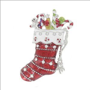 Christmas Stocking with Stone Pin #041887 Arif's Collection. $20.85. pins and brooches