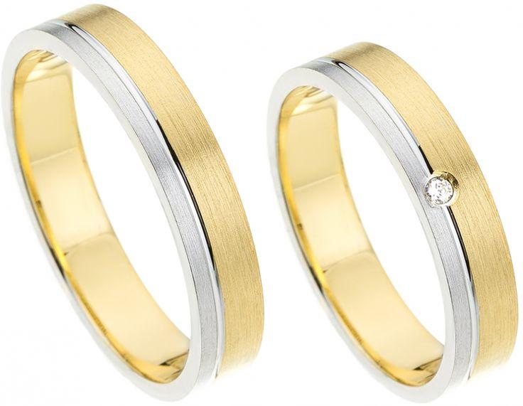 Gouden Bicolor Trouwringen Actie online kopen? Bestel eenvoudig en snel uw trouwringen goedkoop bij Trouwringenvoordeel.nl - € 480,00