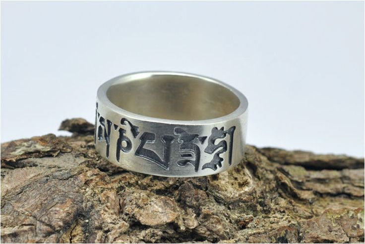 100% Real Pure 925 Sterling Silver The sixth mantra Ring lucky ring Fine Jewelry free shipping HYR03