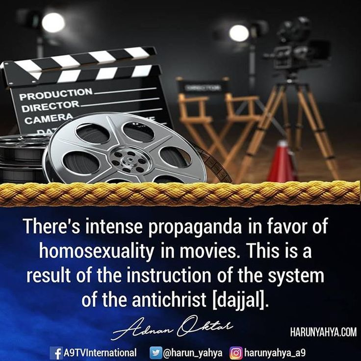 ⚬There's intense propaganda in favor of homosexuality in movies. This is a result of the instruction of the system of the antichrist [dajjal]. #tv #broadcast en.a9.com.tr #islam #God #quran #Muslim #books #adnanoktar #istanbul #islamicquote #quote #love #Turkey #art  #fashion #music #luxury  #photoshoot  #photooftheday  #worldwide #london #newyork  #movie #film #hollywood #dajjal #antichrist