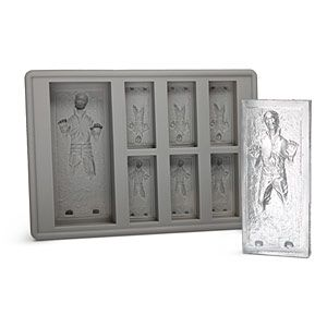 """Star Wars Han Solo in Carbonite ice Cute Tray.  """"The Empire will compensate you if he melts."""""""