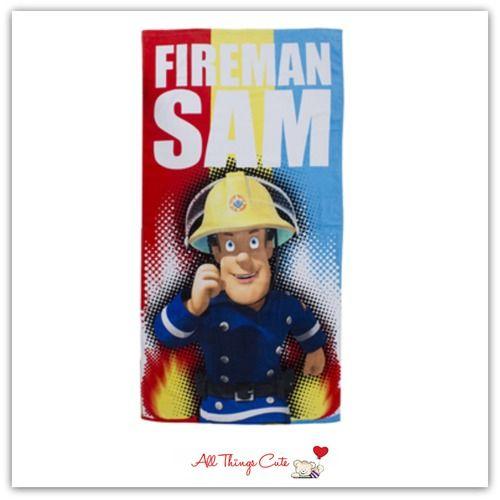 Fireman Sam 'Duty' Towel #fireman #firemansam #towels