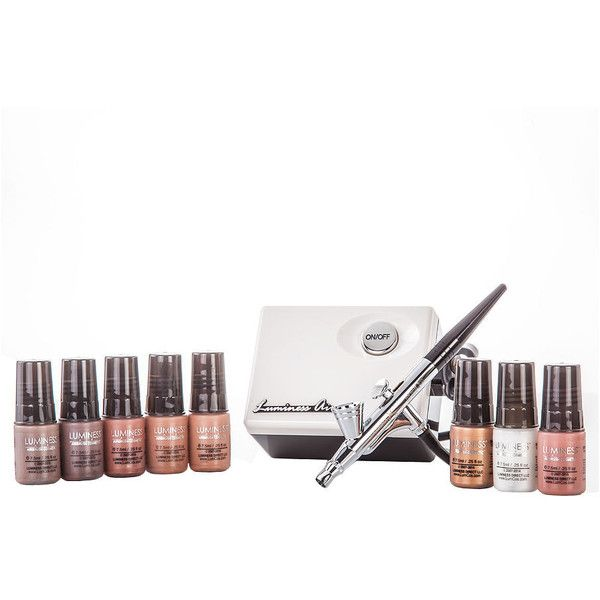 Luminess Air Legend Airbrush Starter Kit, Dark 1 kit ($249) ❤ liked on Polyvore featuring beauty products, makeup, luminess air, sensitive skin makeup, spray makeup, luminess air makeup and dark circles makeup