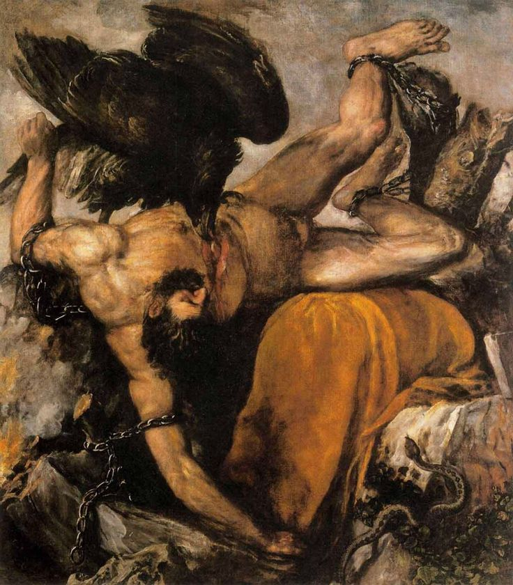 Titian, Italian (active Venice), c. 1488–1576, Tityus, 1548–49. Oil on canvas, 99 5/8 x 85 7/16 inches (253 x 217 cm). Museo Nacional del Prado, Madrid © Museo Nacional del Prado, Madrid