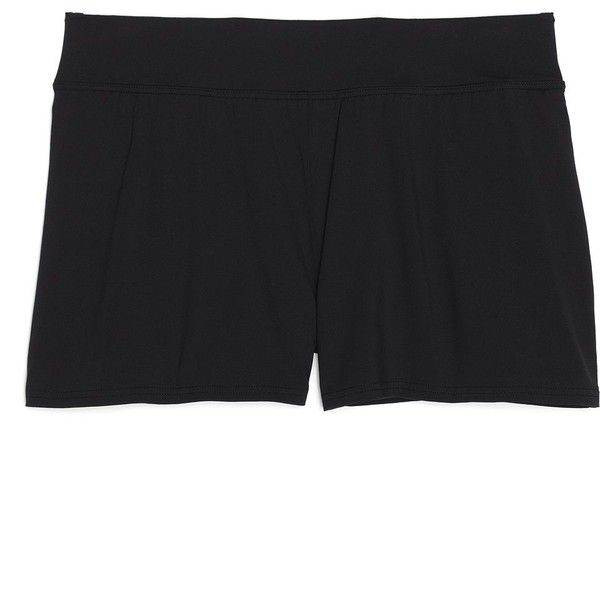 Lands' End Women's Petite Swim Shorts - Beach Living - Slimming ($55) ❤ liked on Polyvore featuring swimwear, swimming costume, swimsuit swimwear, swim trunks, slimming swim suits and tummy control swimwear