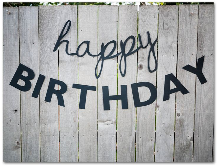 Happy Birthday Banners - 30 and 55 inches long - Happy Birthday Sign - Simple, classic, black, plain, paper - Ready to ship by caitlinwilhelm on Etsy https://www.etsy.com/listing/204893237/happy-birthday-banners-30-and-55-inches