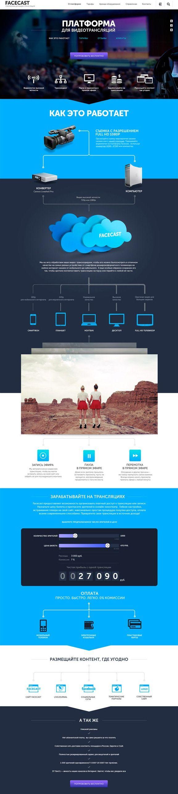 Unique Web Design, Facecast #WebDesign #Design