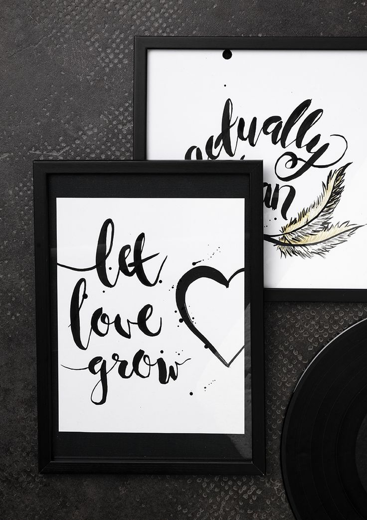 Brush Lettering  www.pandurohobby.com Wall art by Panduro #decoration #DIY #brushlettering #frame #quotes #tutorial #spectrum #book #artikelnummer #600893 #howto #ink #twinbrush