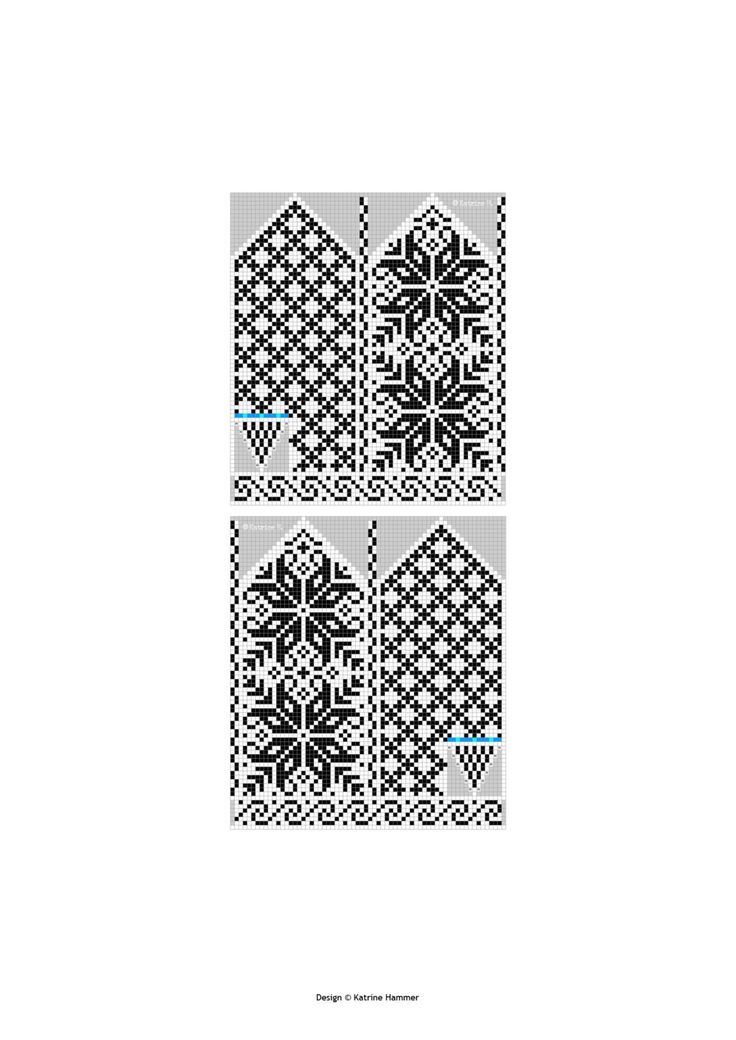 Selbu Mittens Norwegian Rose Pattern Knitting by silverishmoon