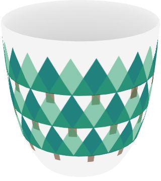 """WOODY"" by Mateusz Sipiora  Ceramic mug with pattern."
