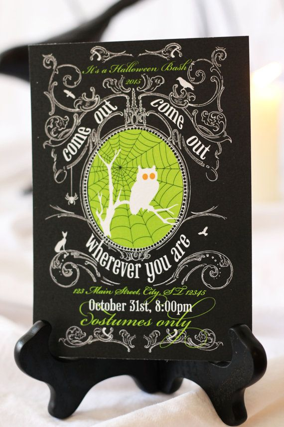 A vintage inspired Hallowen invitation is sure to wow. This design is spooky chic. Check it out in our Etsy shop! The printable is only $10.00!