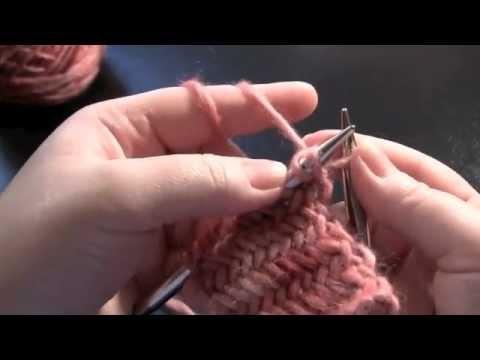 Herringbone Stitch. Estilo continental, más fácil para mi ;)