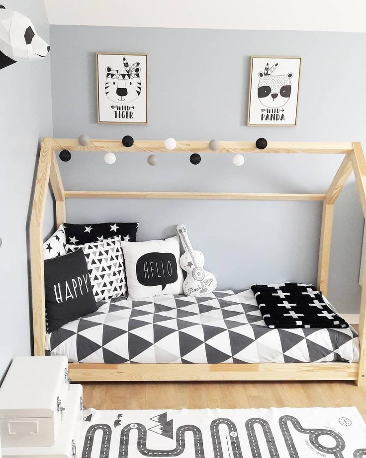 Modernes Kinderzimmer! In diesem wunderschönen Kinderbett sind süße Träume v…