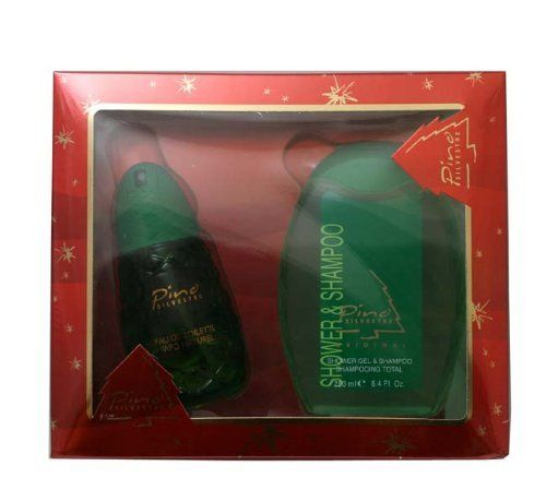 Pino Silvestre By Pino Silvestre For Men. Gift Set ( Eau De Toilette Spray 4.2 Oz + Shower Gel & Shampoo 8.4 Oz). by Pino Silvestre. Save 65 Off!. $19.00. Packaging for this product may vary from that shown in the image above. This item is not for sale in Catalina Island. Launched by the design house of Pino Silvestre in 1955 PINO SILVESTRE Cologne is a scent of an exquisite blend of oakmoss, woods and patchouli blend fragrance.