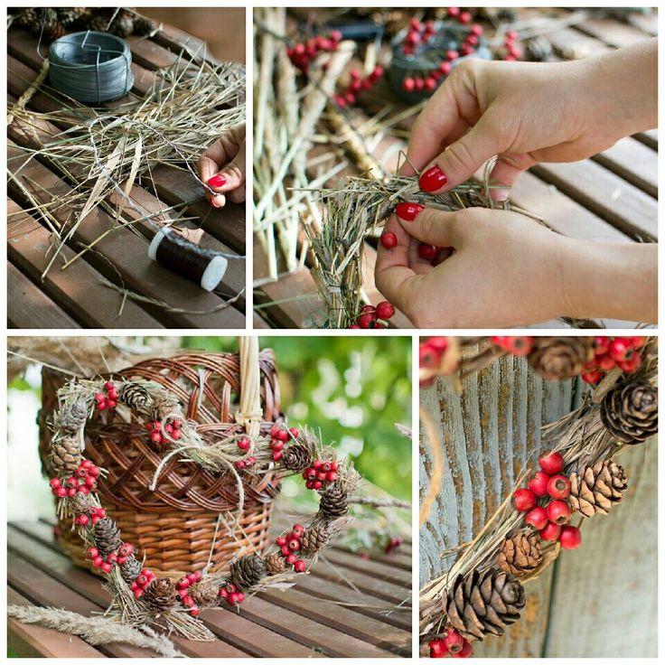 Autumn heart wreath