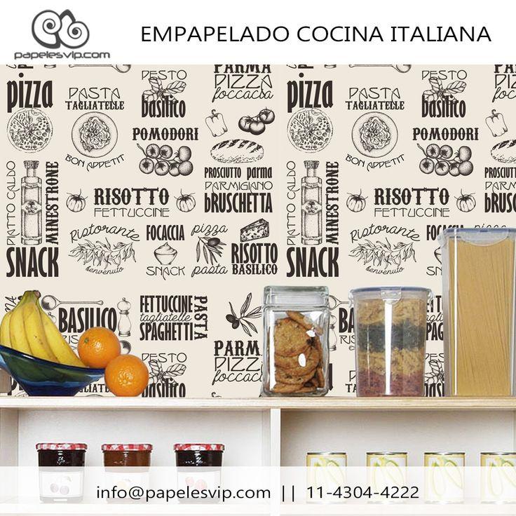 Empapelado Cocina Italiana #empapelado #papelesvip #diseños #personalizados #decoracion #deco #cocina #italiana #homedecor #revestimientos #paredes #wallpaper #interiores #interiordesign #decorar #empapelar #renovacion #interiores #vinilizado #lavable #empapelados #papeles #papelespintados