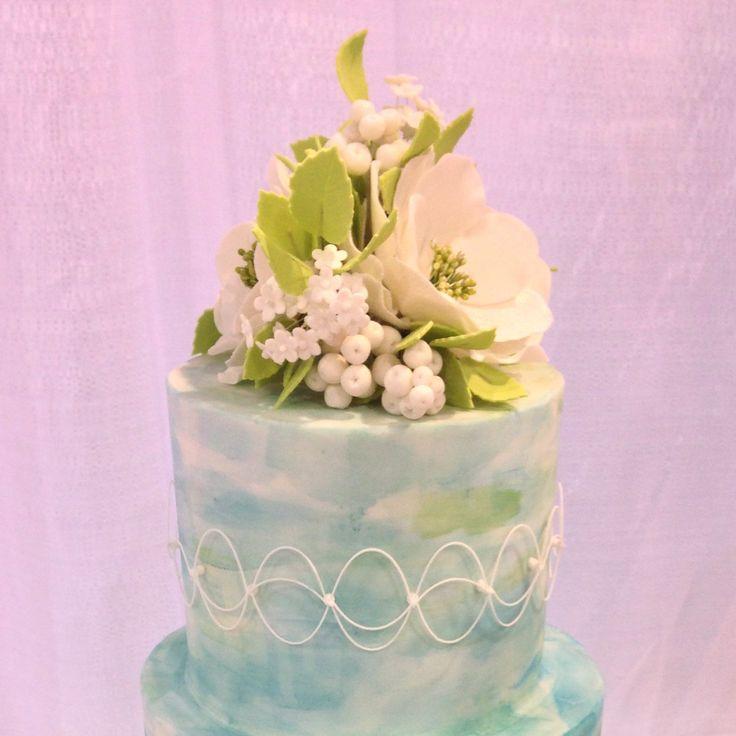 Open Rose Sugar Flower In Pink Or Blush With Gold Center For Wedding Cake  Decoration, Gumpaste Flower, Cake Topper