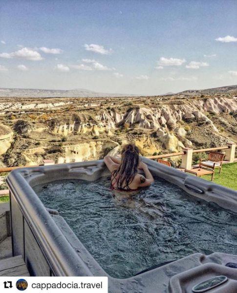 Jacuzzi pleasure at our suites #terrace #jacuzzi #view #luxury