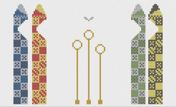 Quidditch Pitch Cross Stitch Pattern by PatronusStitch on Etsy