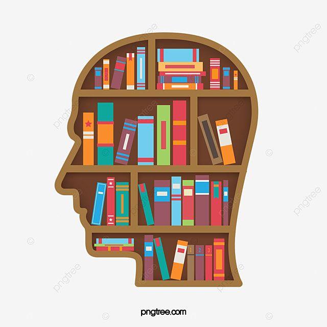 Head Shape Library Bookshelf Library Head Shape Png Transparent Clipart Image And Psd File For Free Download Estantes De Biblioteca Livros Desenho Criatividade