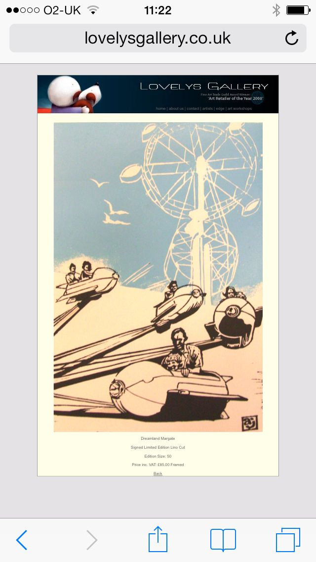 Lino cut of Dreamland, Margate
