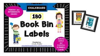 180 Book Bin Labels geared toward intermediate grades! Geared toward COMMON CORE literature. Labels Include: Books by popular authors (picture of author on labels) such as: Debbie Cronin Louis Sachar Lois Lowry Dan Gutman Beverly Cleary Jan Brett Phylis Reynolds Naylor