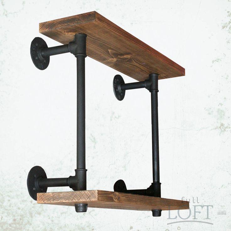 Steampunk Shelf - Industrial Shelves - Furniture Industrial - home decor - vintage by FullLoft on Etsy
