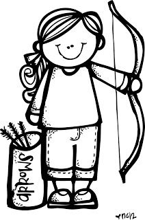 Free YW Girls Camp Clipart-- Colored and black and white ...