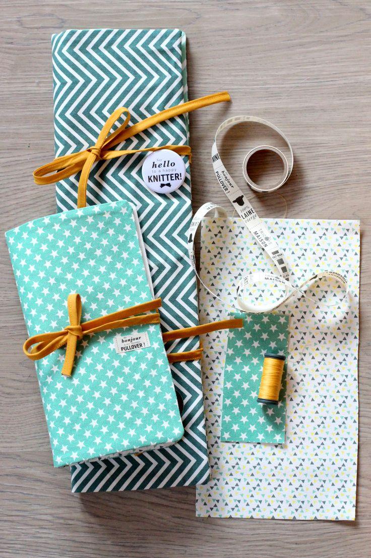@nelloo nous propose un set de pochettes pour ranger vos aiguilles ou vos crochets. #kesiart #couture #lovelycanvas