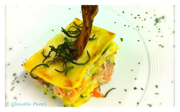 Il Ricettario: Lasagnette al salmone con verdurine croccanti