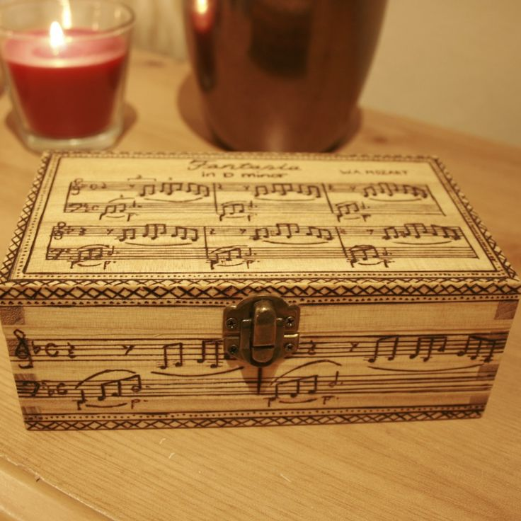 Music score woodburned box! This is so amazing! You could have it be your favorite song too!