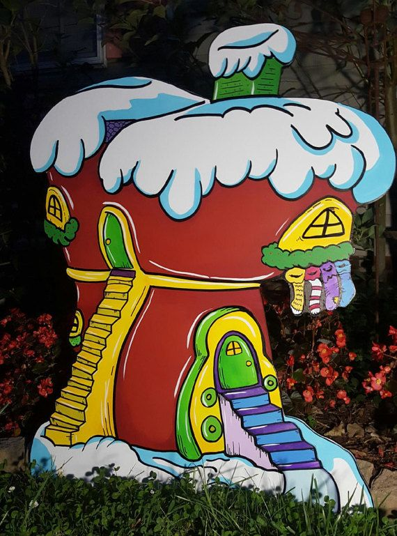Start building your Whoville village today. This is the first of many Village shops/houses that will be coming out this year. Made from MDO Signboard and painted with Behr Marquee paints. This piece is highly detailed and shadowed to give more of a life like piece. This shop stands at 45 inches tall...  * All copyrights and trademarks of the character images used belong to their respective owners and are not being sold/not for sale. This item is not a licensed product and I do not claim…