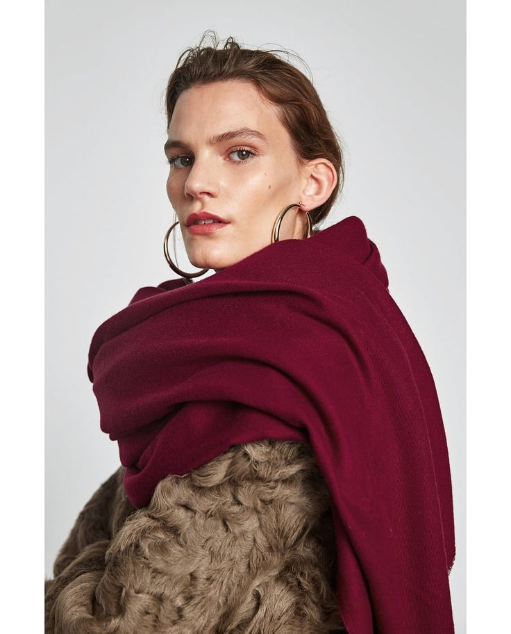 Women's Scarves | Autumn Winter 2017 | ZARA United States - burgundy