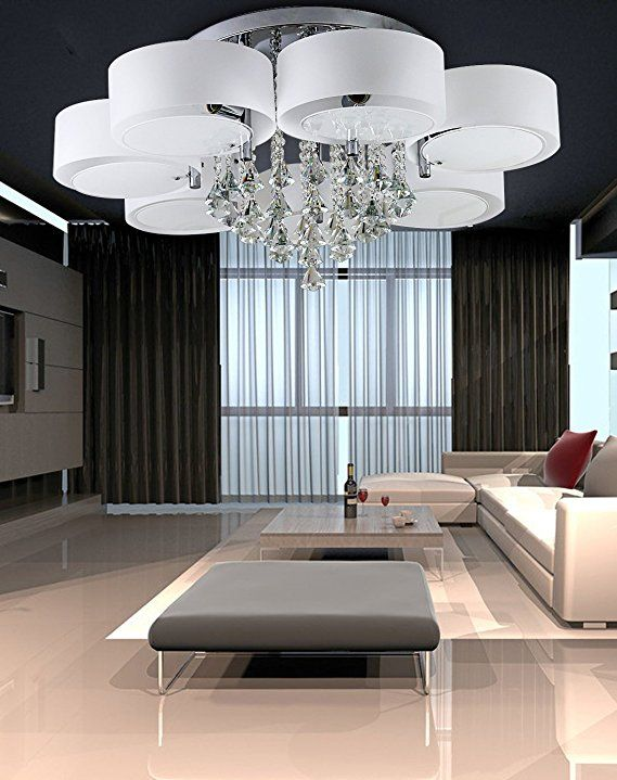 LED #Deckenleuchte #Designer #Deckenlampe #Kristall ...