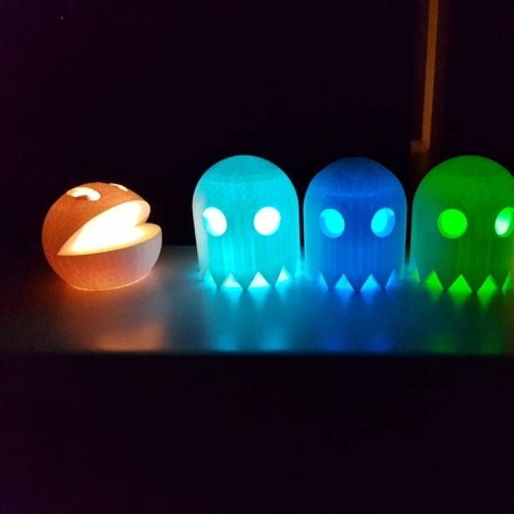3D Printable Pac-Man Lantern by John Bishop