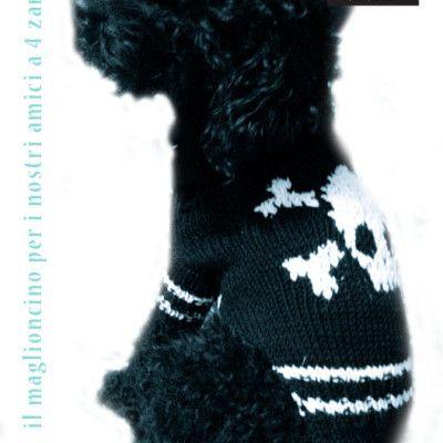 maglione cani con teschio