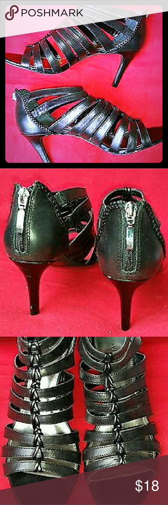 Alfani Black Menny Open Toe Sandals Open toe synthetic sandals, never been worn, still in original box Alfani Shoes Sandals