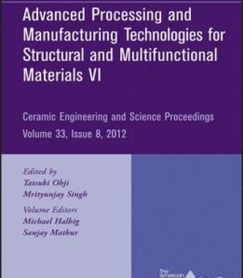 Advanced Processing And Manufacturing Technologies Vi: Ceramic Engineering And Science Proceedings PDF