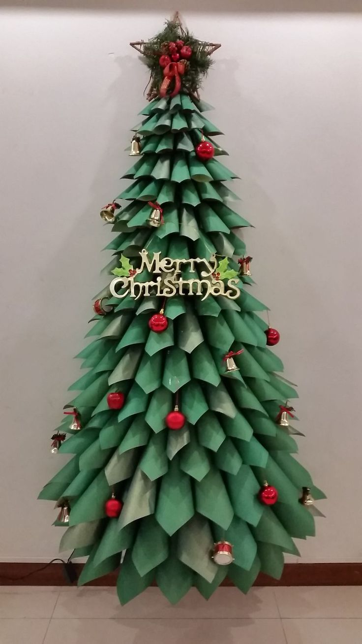 Giant Ombre Paper Cone Christmas Trees - a DIY Tutorial and How-To ...