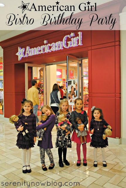 A Bistro Birthday Party at the American Girl Store, from Serenity Now