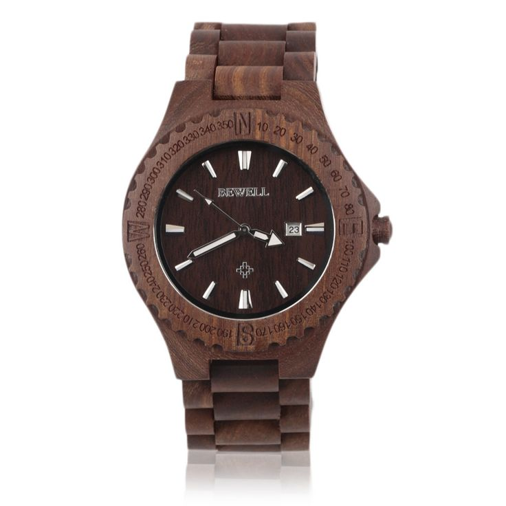 Wood Watch in Red (Wooden Wristwatch for Men) Style: Fashion & Casual Movement: Quartz Case Material: Wooden Band Length: 25 cm Clasp Type: Bracelet Clasp Water Resistance Depth: No waterproof Feature