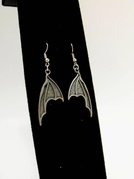 Charm Earrings Bat Wings Skulls Jolly Roger Skull and