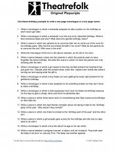 Playwriting Format Template. playscript templates by ...