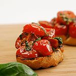 Warm Cherry Tomato Crostini!!! Mmmmm  http://www.canadianliving.com/food/warm_cherry_tomato_crostini.php#