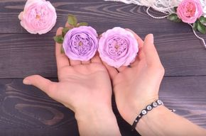 Пионовидная роза из фоамирана | Tavifa. Видео МК