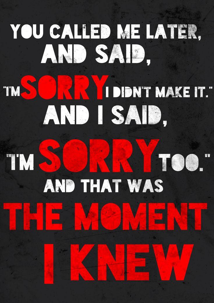 Image result for the moment i knew lyrics