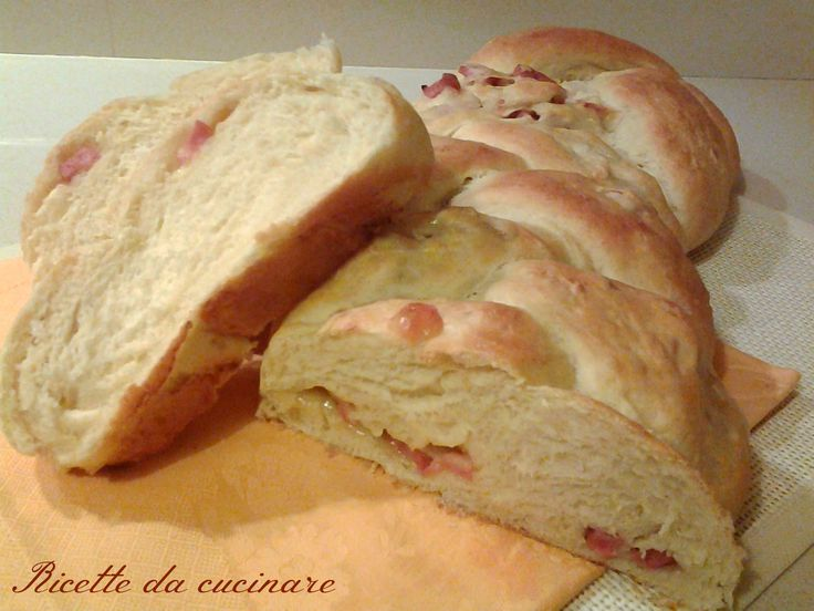 Treccia di pan brioche rustica ripiena