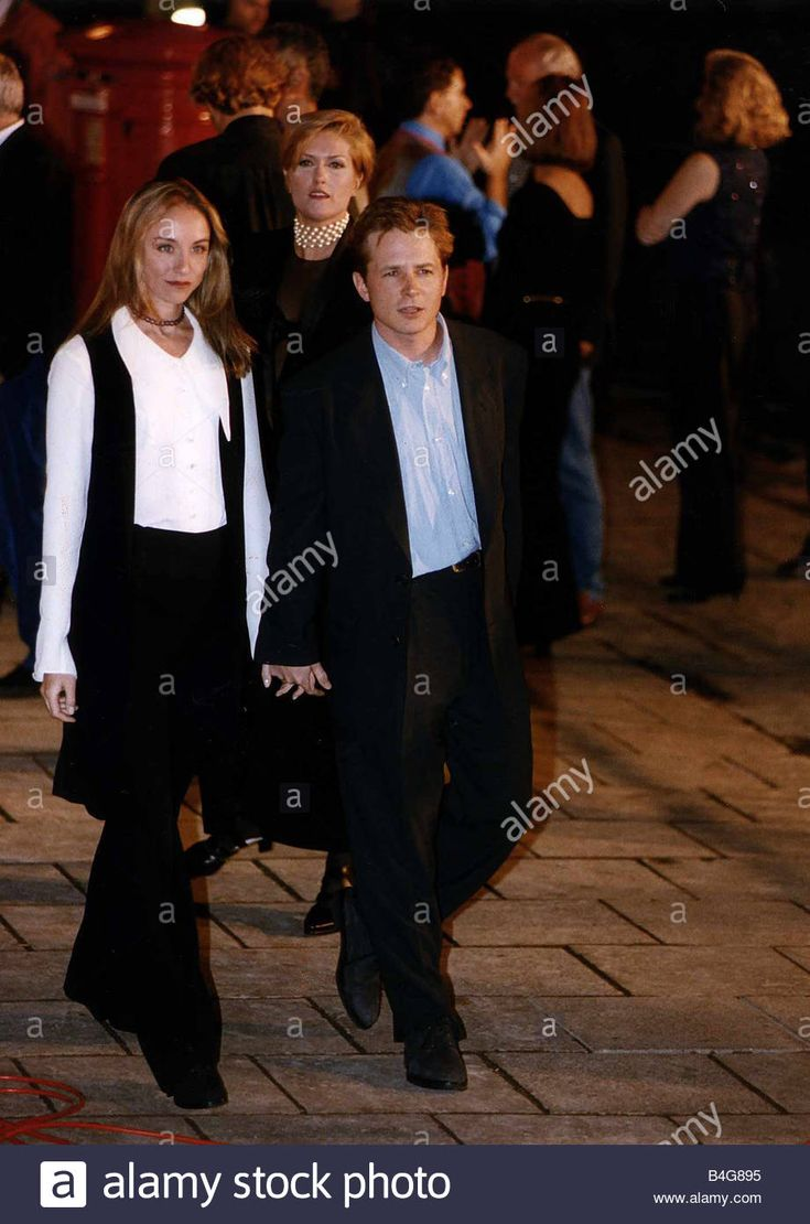 Michael J Fox Actor With His Wife Tracy Pollan At The