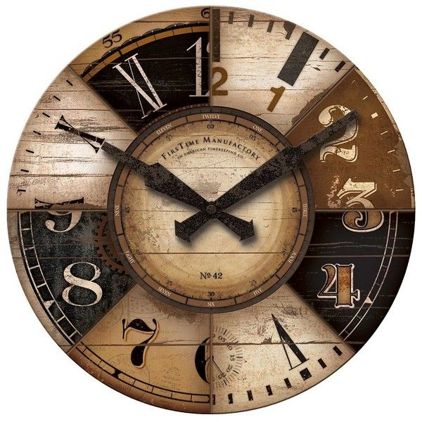 FirsTime Collector Wall Clock ($60) ❤ liked on Polyvore featuring home, home decor, clocks, multicolor, colorful wall clock, colorful clocks, battery powered wall clock, battery clock and battery wall clocks